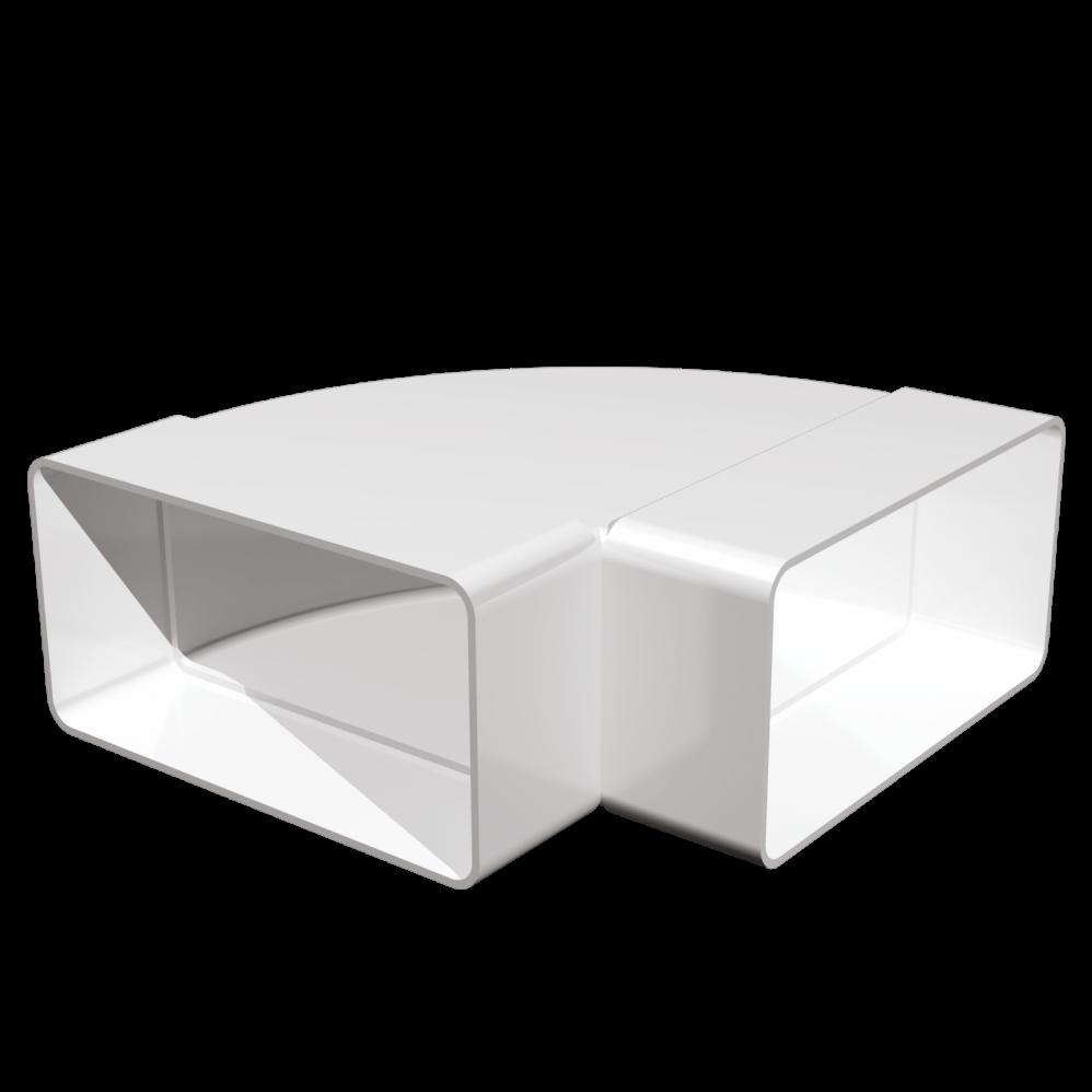 Коліно плоске Ера 90° пластикове 55 х 110 мм (60-203)