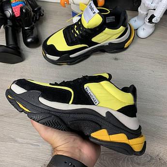 Кроссовки Balenciaga Triple S 2.0 Black Yellow
