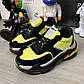 Кроссовки Balenciaga Triple S 2.0 Black Yellow, фото 3