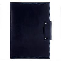 Папка - портфель для документов из кожи Anchor Stuff А4 Темно-синяя  КОД: as150102-0