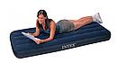 Одноместный велюр матрас надувной 64756 Intex Classic Downy Синий, фото 2