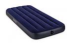 Одноместный велюр матрас надувной 64756 Intex Classic Downy Синий, фото 3