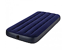 Одноместный велюр матрас надувной 64756 Intex Classic Downy Синий, фото 4