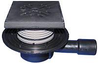 HL510NG Трап горизонтальный DN 40/50 с чугунной решеткой (шт.)