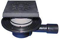 HL510NPrG Трап горизонтальный DN 40/50 с чугунной решеткой