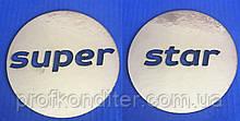 """Набір Топеров з ламінованого картону """"Медальйони Super star"""", 7см"""