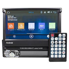 Автомагнітола Lesko 9601A 1 din 7 дюймів Bluetooth Wi Fi GPS FM з висувним екраном Android КОД: 3578-10385