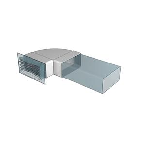 Коліно плоске Ера 90° пластикове 55 х 110 мм (60-203), фото 2