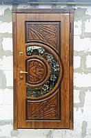 Двери входные металлические Адамант New со стеклом и ковкой, фото 1