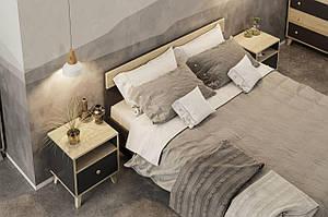 """2СП ліжко Еріка/Еріка артезіан/графіт 160*200 """"Світ Меблів"""""""
