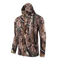 Тактическая куртка Soft Shell ESDY A001 XXXL мужская влаго-ветрозащитная Осенний лист КОД: 4255-12481