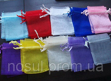 Упаковка подарочная, однотонные мешочки из органзы 7см х 9см, органза, подарочные мешочки