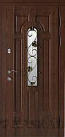 Двери входные металлические Лиана со стеклом и ковкой