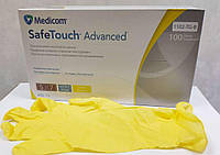 Перчатки нитриловые SafeTouch Advanced Yellow(100шт/уп) желтый,XS