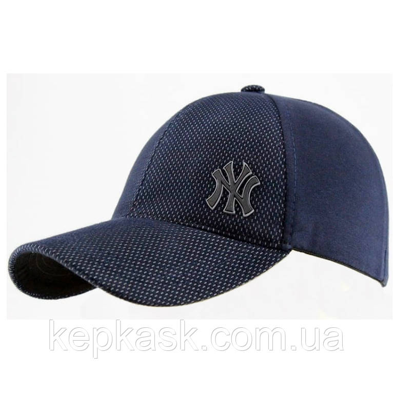 Бейсболка трикотаж blue fraction NY