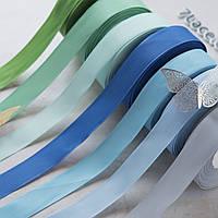 Репсовая лента 2,5 см / цвет микс / ширина 2,5 см / 24 бобины разных цветов
