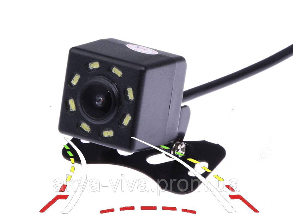 Камера заднього виду водонепроникна з поворотними лініями. 8 діодів (КЗВ-106-ПЛ)