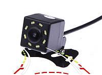 Камера заднего вида водонепроницаемая с поворотными линиями. 8 диодов (КЗВ-106-ПЛ), фото 1