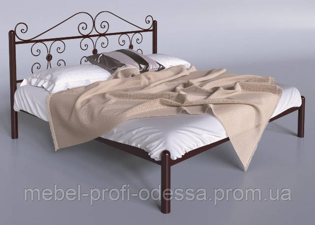 Богония 1600х2000 Металлическая двуспальная Кровать фабрика Тенеро (Tenero) в Одессе