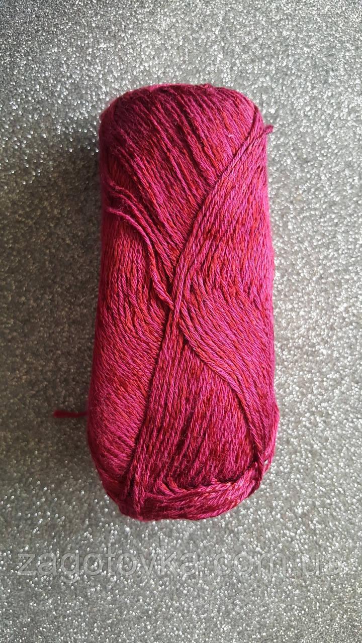 Пряжа бавовна Yarn Art Style №676 Бордовий