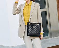 Стеганная женская сумка на цепочке, фото 3