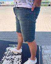 Мужские джинсовые шорты синего цвета, фото 3