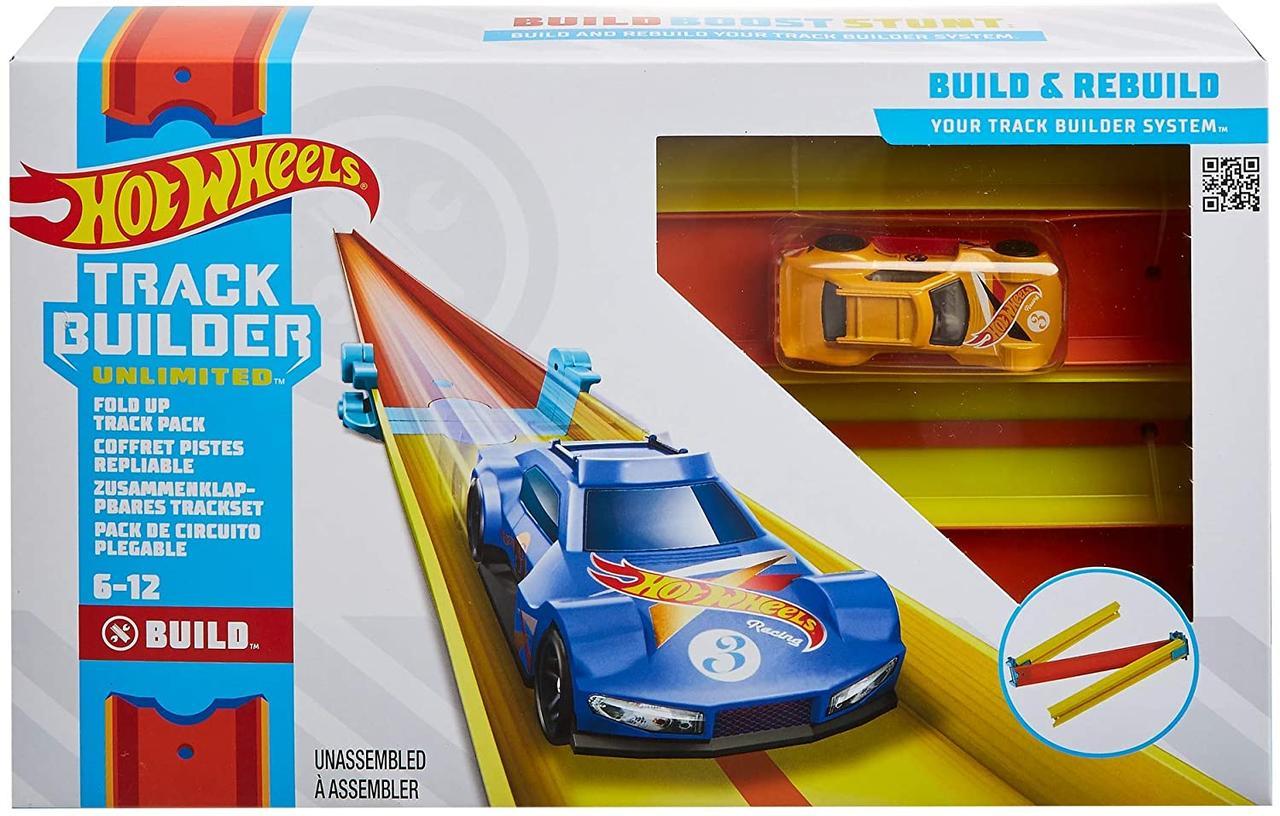 Трек Хот Вилс Оригинал Подъемы и Спуски Hot Wheels Track Builder Fold Up Track Pack Assorted (GLC91)