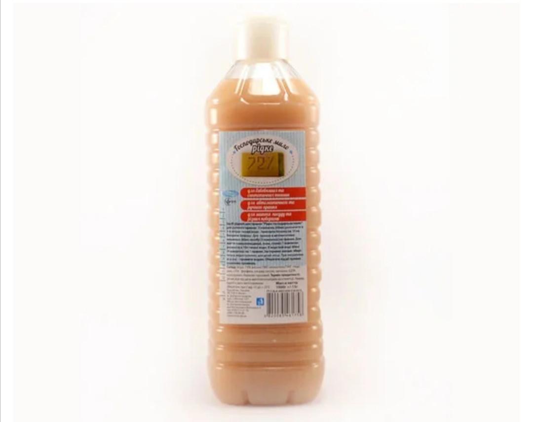 Жидкое хозяйственное мыло 72% 1л ТМ Вивас