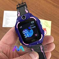 Детские смарт часы Baby Smart Watch Q6 с камерой GPS трекером сим sim картой умные синие телефон