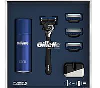 Gillette набор (Proglide Flexball станок + 4 запаски + гель 75 мл.+ подставка)