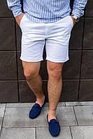 Мужские шорты белые льняные, фото 1