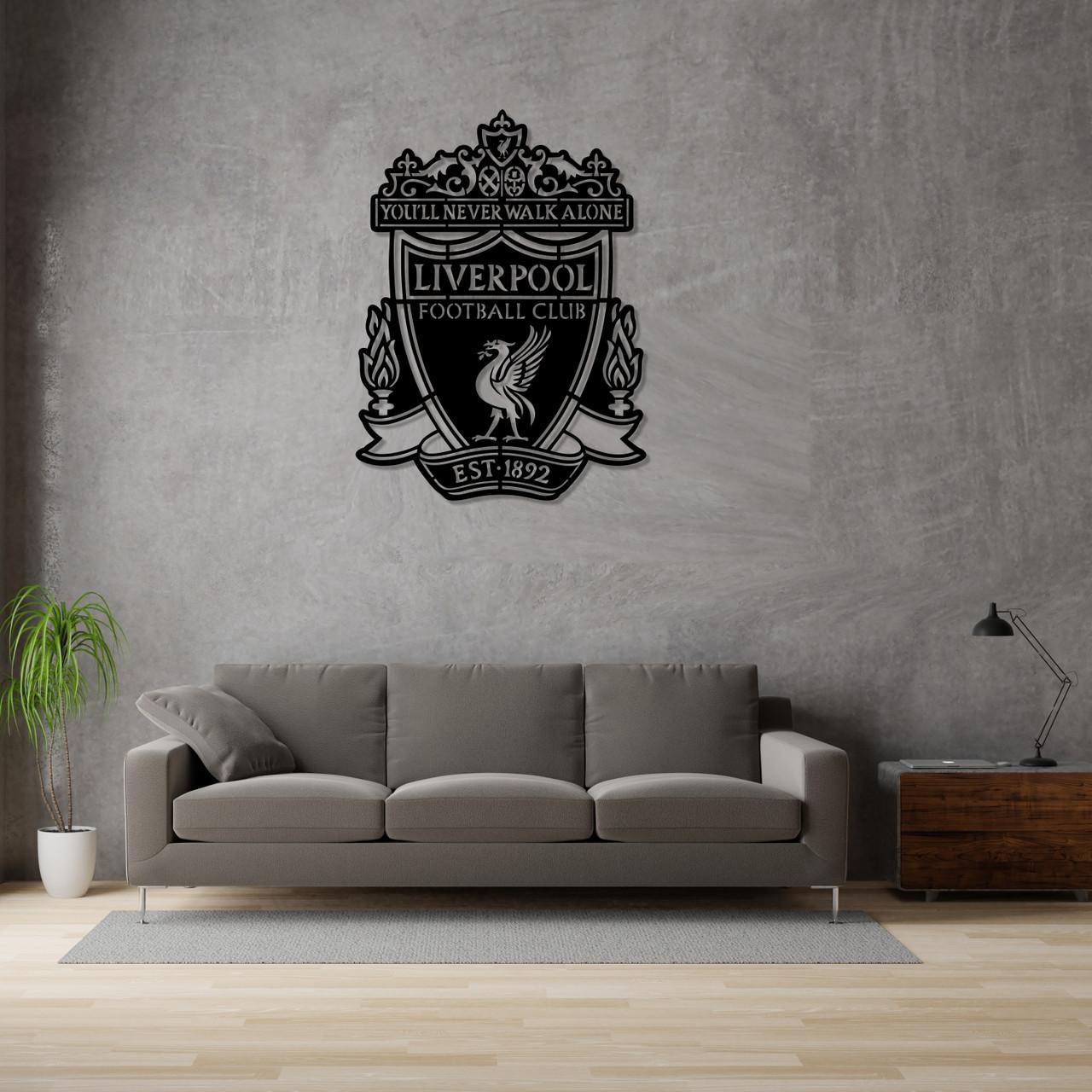 Деревянная эмблема футбольного клуба «Ливерпуль»