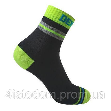 Dexshell Pro visibility Cycling L 43-46 Шкарпетки водонепроникні  з зеленою смугою, фото 2