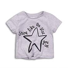 Детская серая футболка для девочки 9 месяцев