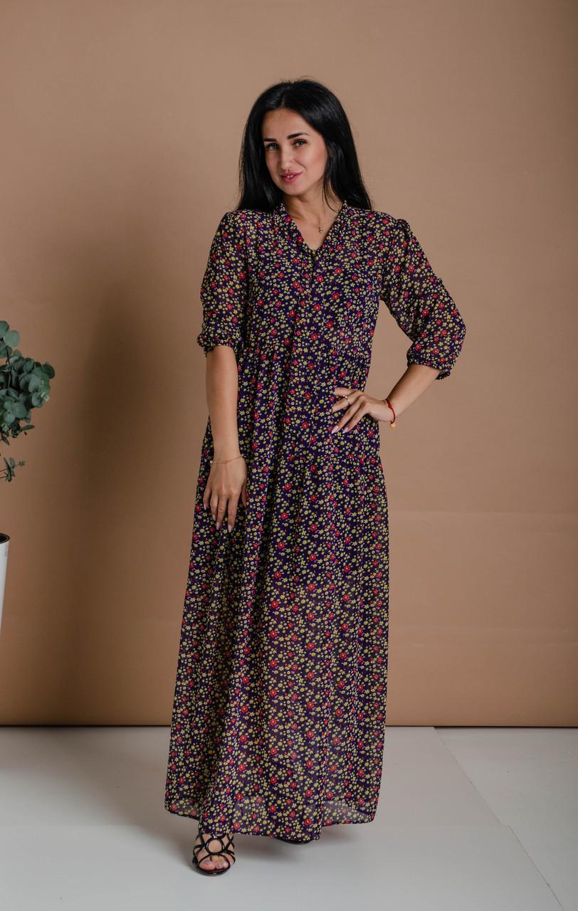 Платье женское А-силуэта из шифона
