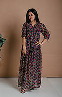 Платье женское А-силуэта из шифона, фото 1
