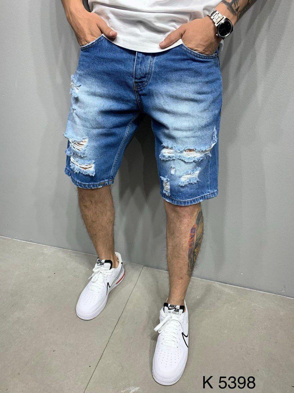 Мужские джинсовые шорты 2Y Premium 5398 blue