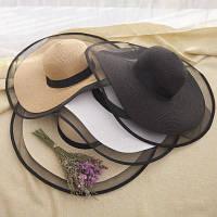 Жіноча солом'яний капелюх. Модель А-3, фото 6