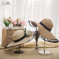 Жіноча солом'яний капелюх. Модель А-3, фото 8