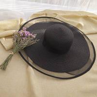 Жіноча солом'яний капелюх. Модель А-3, фото 7