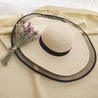Жіноча солом'яний капелюх. Модель А-3, фото 10