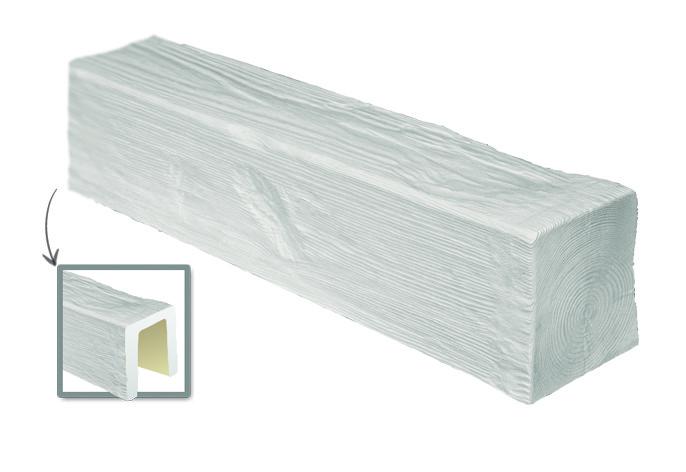 Балка Модерн ED 104 (2м) classic белая 17х19. DecoWood