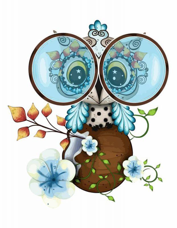 "Картина по номерам. Rosa ""Cute Owl"" 35х45см"