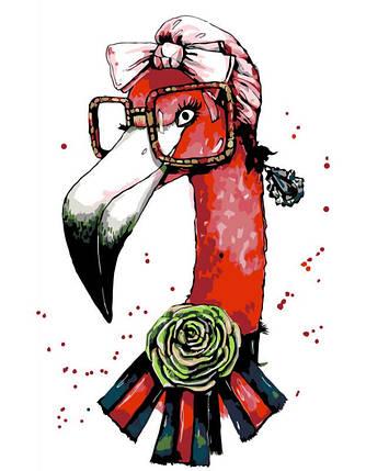 "Картина по номерам. Rosa ""Fashion Flamingo"" 35х45см, фото 2"