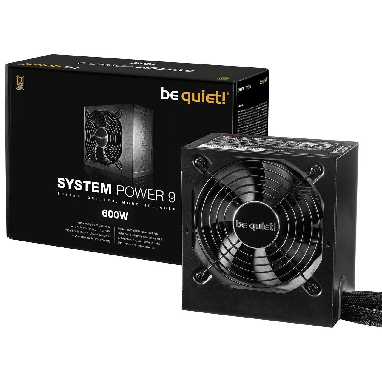 Блок питания Be quiet! System Power 9 600 Вт ATX BN247