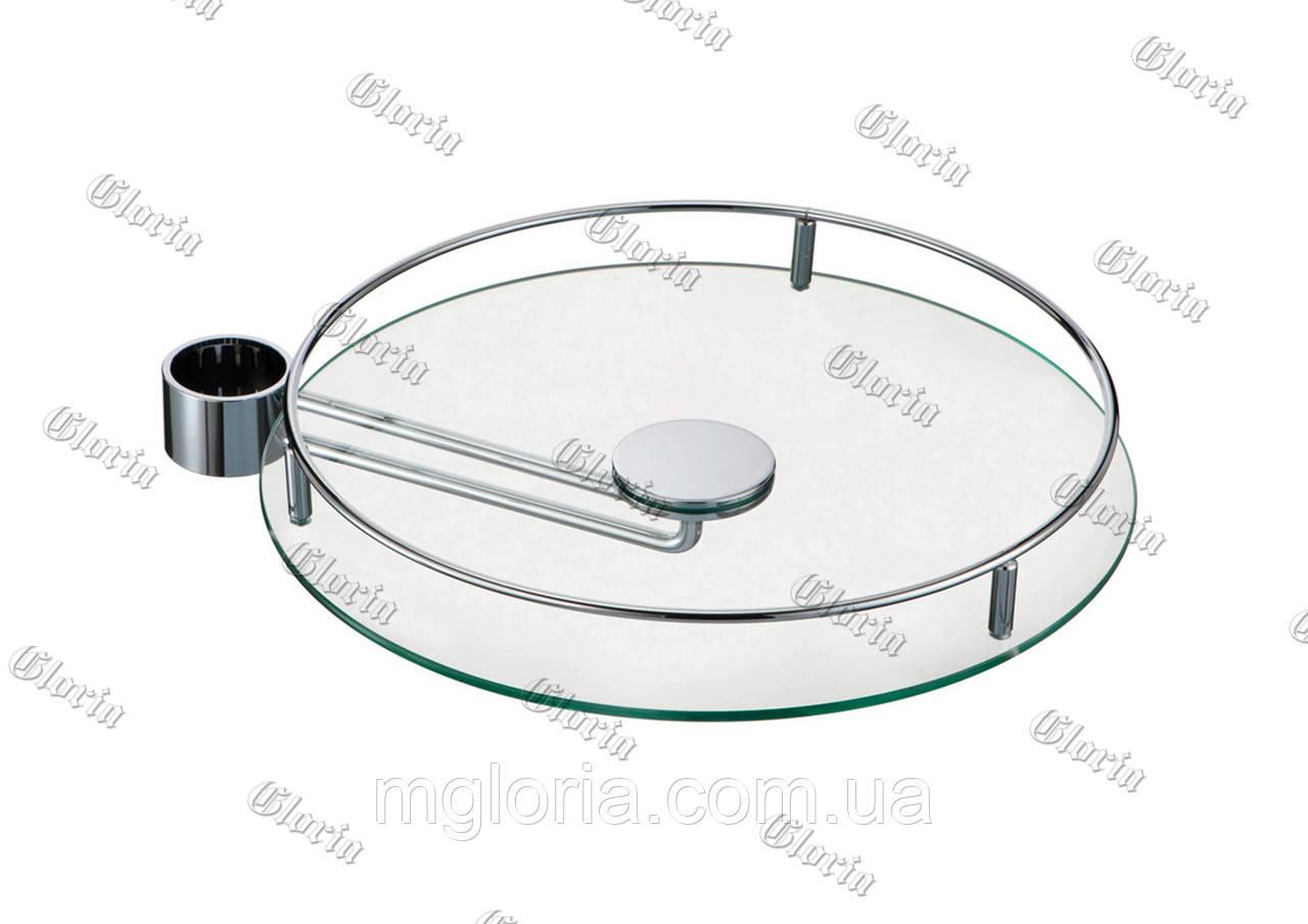 Полка стеклянная выносная 350 мм