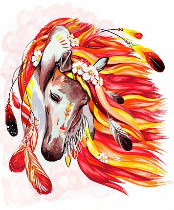"""Картина по номерам. """"Огненная лошадь"""" 40*50см, фото 2"""