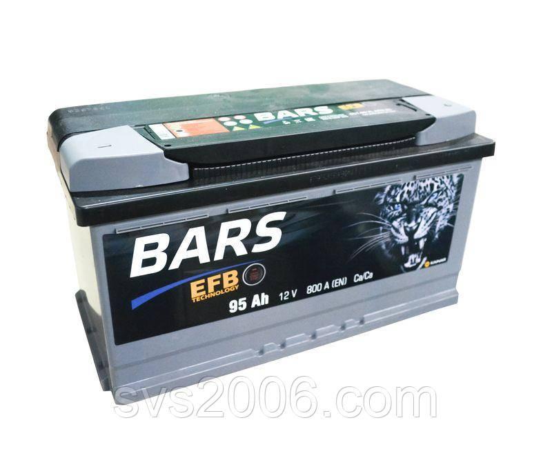 АКБ 6СТ-95 R+ (пт 800) (EFB) BARS