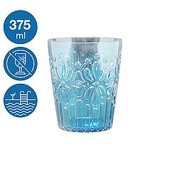 Склянка коктейльна акрил 375ml Синє море небиткий багаторазовий посуд для басейну яхти кейтерингу пластик