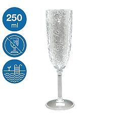 Келих для шампанського Айс акриловий небиткий багаторазовий посуд для басейну яхти кейтерингу 250 мл